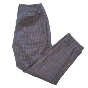 Ann Taylor plaid trousers size 6 Julie
